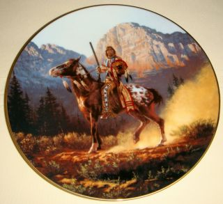 Chuck Ren Mystic Warriors Series VY Nice Native Horse Top Gun Plate BX