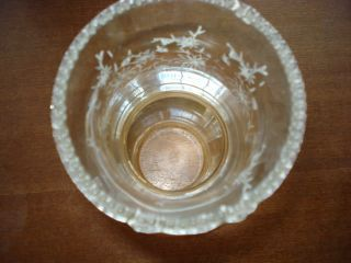 Antique Victorian Glass Oil Gas Lamp Shade Etched RARE