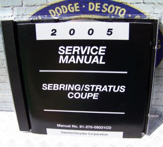 2005 Chrysler Sebring Stratus Coupe Service Manual CD