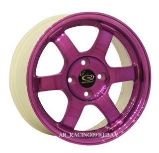 15 Rota Rims Grid 4x100 38 Purple Integra Civic CRX Del Sol Fit Versa