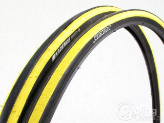 Pair Kenda Kadence Road Bike Tire Tyres 700x23c 700c Yellow