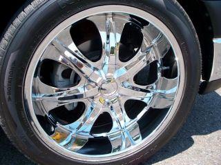 22 inch Rims Wheel Tire Pkg Deep Lip 5x127 5x135 V725