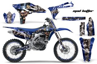 AMR Racing Dirt Bike Number Plate Decal Wrap Kit Yamaha YZ 250 F YZF