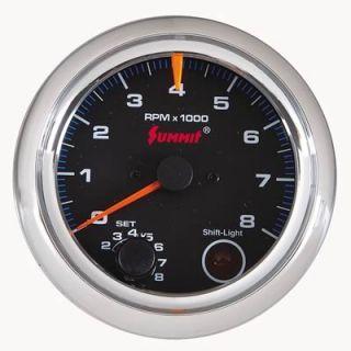 Summit Racing G29105 Tachometer, Shift Light, 09 Series, 0 8,000 rpm