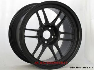 18 Enkei Wheels RPF1 18x9 5 Black EVO 8 9 x 10 Mustang