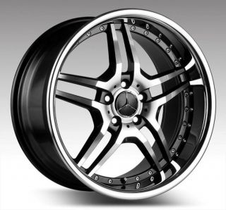 19 Euromag EM2 Staggered Wheels Rims Fit Mercedes CL500 CL600 C230