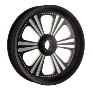New Revtech Dominator Black WHEEL18 x 3 5 Custom Harley Touring