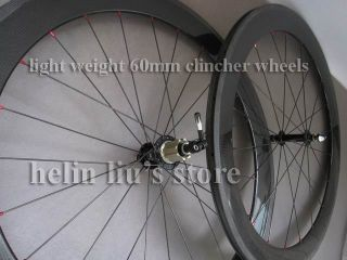 60mm Clincher Carbon Wheels with Light Weight Novatec Hub A291SB