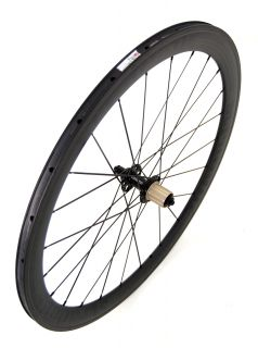 STRADALLI Full Carbon Road Bike Wheelset Black Aero Bicycle Wheels