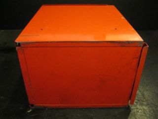 Used Snap on Side Cabine Locker ool Box 5 Drawers Red Lockable