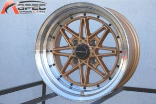 V2 Gold Wheels Fit AE86 Datsun 240 260 280z 240sx s13 4x4 5 Rim