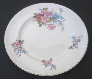 Johnson Brothers Old English 10 Dinner Plate Pink & Blue Flowers