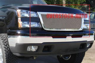 Stainless Mesh Grille Upper 05 06 Chevy Silverado 2500 3500