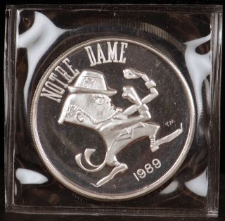 1989 Notre Dame Fiesta Bowl 1 oz 999 Fine Silver Limited Edition Round