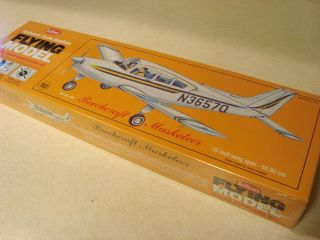 Guillows Beechcraft Musketeer Flying Model Airplane Kit SEALED