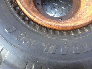 ATC Honda 185s 200S Front Wheel Rim Tire Carlisle 22 x 11 8 See Pics