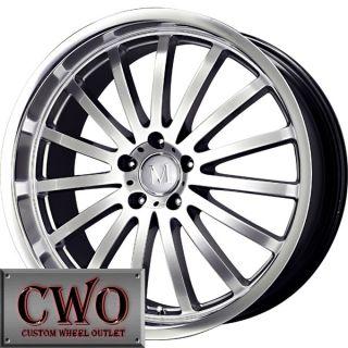 20 Silver Mandrus Millenium Wheels Rims 5x112 5 Lug Audi A4 A6