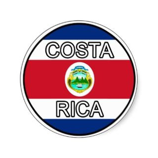 Costa Rica Euro Sticker