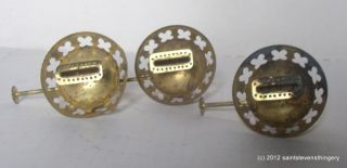 Lot 3 Antique Brass Oil Lantern Burners Fit 2 No 2 Collar