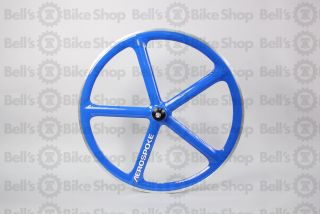 Aerospoke Track Front Wheel Blue Machined Bolt on 700c Fixed Gear