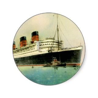 RMS Queen Mary Vintage Passenger Ship Sticker