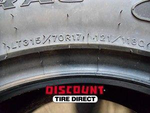 Used 315 70 17 Goodyear Wrangler Duratrac Tire 70R R17