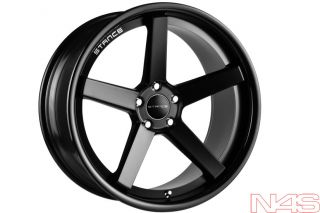 SLK350 Stance SC 5IVE Black Concave Staggered Wheels Rims