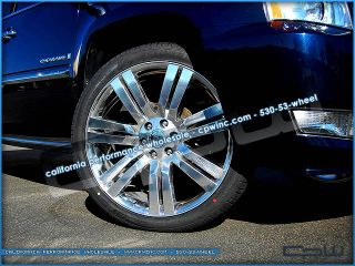 Escalade 24 inch High Polish wheels WITH TIRES GMC Chevrolet rims