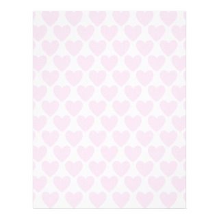 Simple Pretty Pink Polka Heart Wallpaper Pattern Customized Letterhead