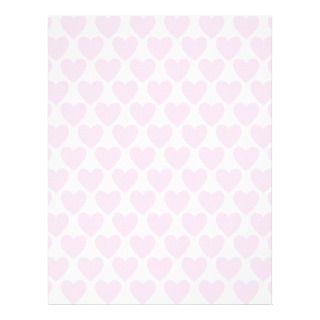 Simple Pretty Pink Polka Heart Wallpaper Pattern Customized Letterhead