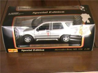 Maisto 1997 Mercedes Benz ml 320 Silver Special Edition 1 18 Scale Die