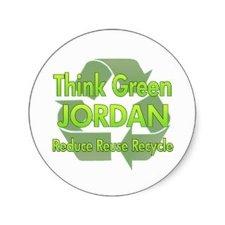 Think Green Jordan Sticker