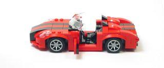 Lego Custom Red Sports Car w Black City Town 10211 8402 10182 10197