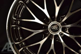 19 RW1 Black Chrome Lip Audi w Tires