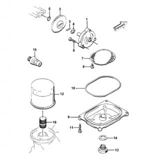 Parts Diagram for Arctic Cat 1997 ATV 4X4 ATV OIL FILTER/PUMP ASSEMBLY