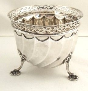 Antique Hallmarked Sterling Silver Bowl 1892 Pierced Rim