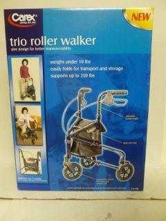 New Carex Trio Rolling Walker Blue Lightweight Easily Folds Model A333