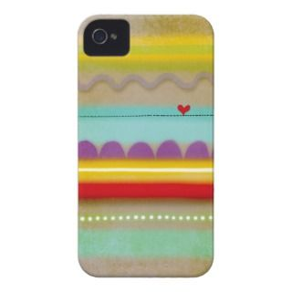 Stripes heart illustrated Case iphone 4   4s Case Mate iPhone 4 Cases