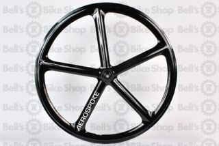 Aerospoke Track Front Wheel Black Non Machined Fixed