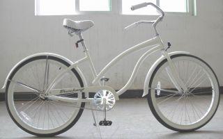 26 Beach Cruiser Bicycle Bike Firmstrong Lady Bella White
