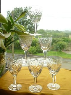 Royal Doulton Webb Corbett 6 Angelique Wine Glasses
