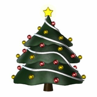 KRW Fun Christmas Tree Ornament Cut Outs