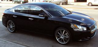 Zenetti Reign 20 Black Rims Wheels G35 G37 Staggered