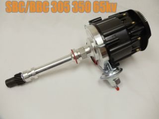 SBC BBC Chevy 305 350 454 V8s Hei Distributor with Black Cap 65K 65
