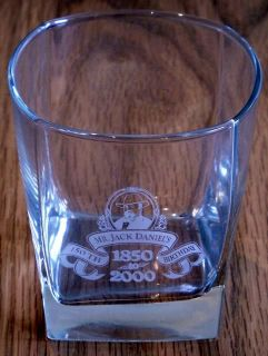 Jack Daniels ® Whisky Glass Etched 150th Birthday RARE