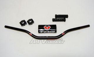 Black Suzuki Z400 LTZ400 LTZ 400 Handlebars Handle Bars+Clamps+Grips