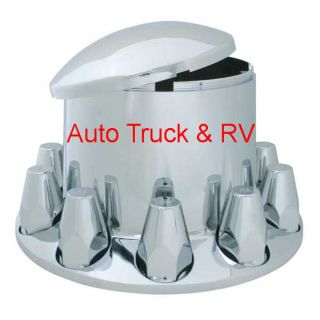 ABS Rear Wheel Nut Cover Hub Axle 10 Lug 33 mm Semi Truck Rim Dress up