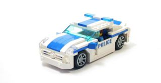 Lego Custom White Blue Police Interceptor City Town 10211 7498 7288