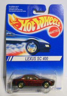 HOT WHEELS 1995 #12357 LEXUS SC 400 CANADIAN RELEASE GOLD 7SPS VARI