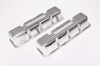Offenhauser Cast Aluminum Valve Covers 5773 AMC V8 Polished